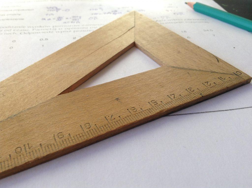 zadanie matematyczne, linijka