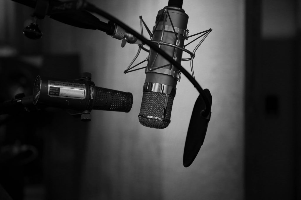 mikrofon, studio nagrań