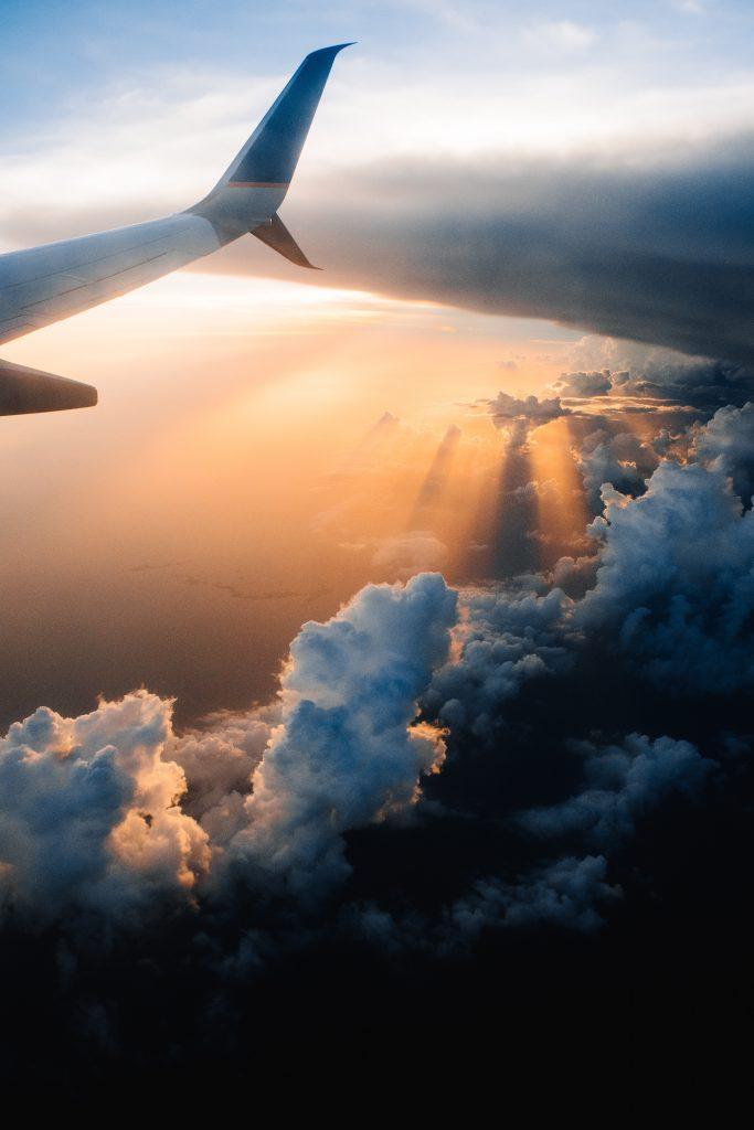 winglet samolotu podczas lotu