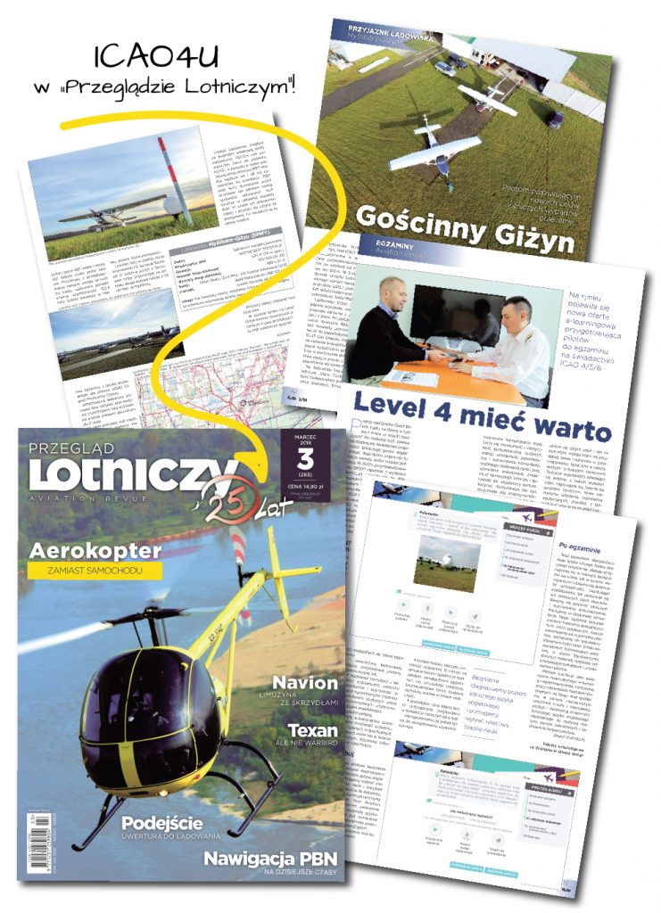 """ICAO4U w """" Przeglądzie Lotniczym """""""