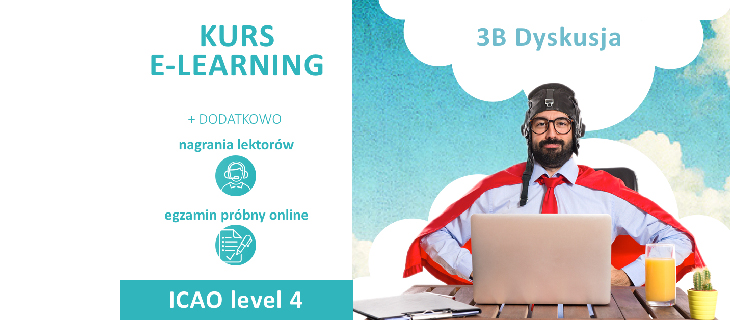 KURS E-LEARNING ICAO level 4 + NAGRANIA LEKTORÓW + EGZAMIN PRÓBNY ONLINE